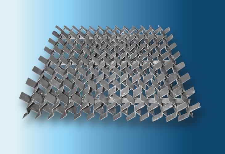 Cross-Flow-Grid Support Plate Type SP-CF, Ø > 500 mm, für Metall- und Kunststoffpackungen für stark verschmutzende Systeme und verbesserte Gasverteilung