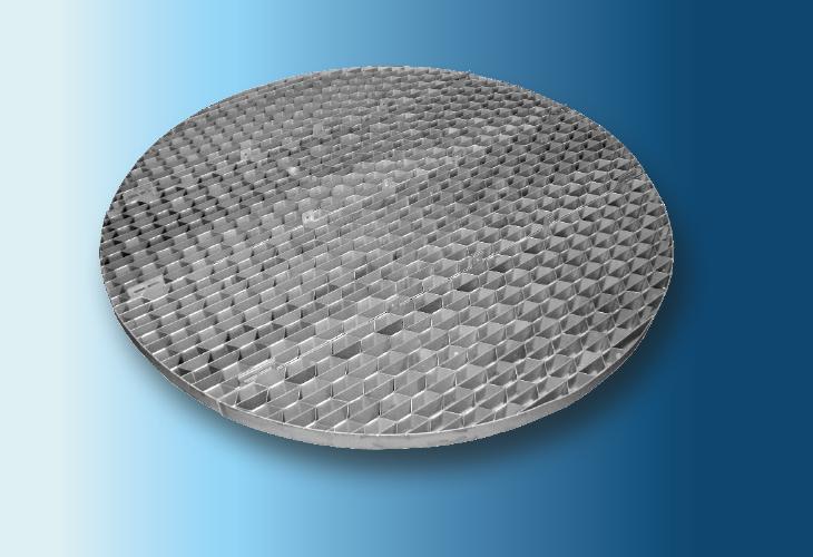 Hexa-Grid Tragrost Type SP-HG, Ø > 500 mm für Metall- und Kunststoffpackungen für stark verschmutzende Systeme