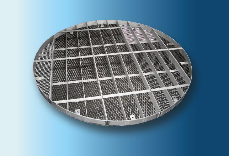 Niederhalterost Type HP-2, Ø > 100 mm für Keramikpackungen