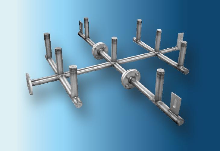 Gasverteiler Type GV-P1, Ø > 300 mm Niedrigste Gasflussraten