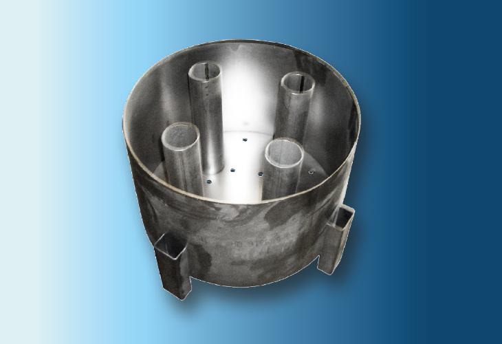 Lochbodenverteiler mit Gaskaminen Type DR-2, 100 mm < Ø < 1200 mm